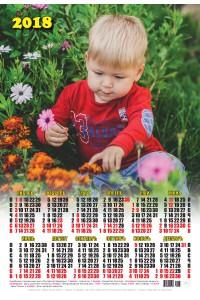 17006 Юннат - 2018 (Листовой настенный календарь формат А3)