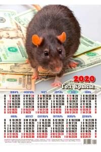20001 Бенджамин - 2020 (Листовой настенный календарь формат А3)