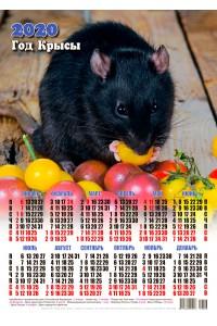 20006 Сеньор Помидор - 2020 (Листовой настенный календарь формат А3)