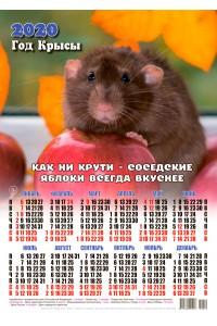 20012 Ябломан - 2020 (Листовой настенный календарь формат А3)