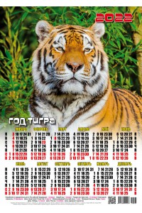 22001 Вожак - 2022 (Листовой настенный календарь формат А3)