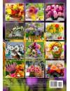00002 Эрудит. Цветочный календарь - 2020 (Формат А4, настенный)