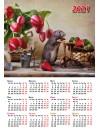 00003 Эрудит. Календарь (Год Крысы) - 2020 (Формат А4, настенный)