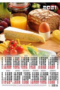 000232 Сыр и лапша - 2021 (Листовой календарь, формат А2)