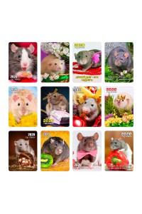 Набор №2 - (12 видов по 10 шт) - Карманные календари. Символ года (Крысы) - 2020