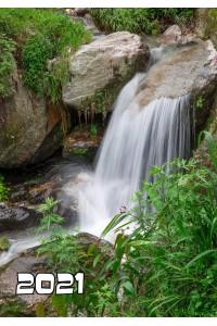 2021-011 Карманный календарь. Водопад - 2021