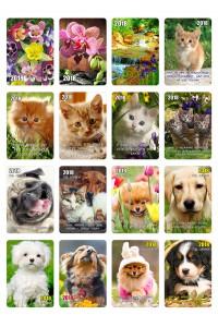 Набор №2 - Карманные календари - 2018 (20 видов по 50 шт)