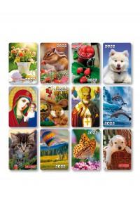 Набор №3 - (12 видов по 10 шт) - Карманные календари. Ассорти - 2022