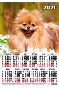 01004 Рыжик - 2021 (Листовой календарь, формат А2)