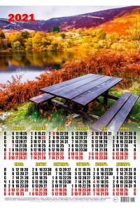 00015 Осень - 2021 (Листовой календарь А2)