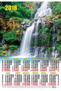 16 Водопад - 2018 (Листовой календарь А2)