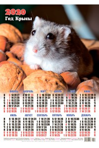 00006 Орешки - 2020 (Листовой настенный календарь формат А2)