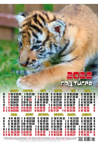 00029 Малыш - 2022 (Листовой настенный календарь формат А2)