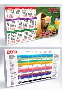 006 Табель календарь домик, Ми-ми - 2019  (Настольный календарь, учет рабочего времени)