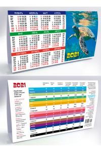 00107 Табель календарь домик, Тортилла - 2021  (Настольный календарь, учет рабочего времени)