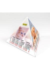 00202 Табель календарь пирамидка, Кошки - 2021  (Настольный календарь, учет рабочего времени)