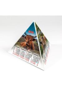 00201 Табель календарь пирамидка, Год Быка - 2021  (Настольный календарь, учет рабочего времени)