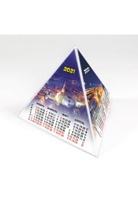 00203 Табель календарь пирамидка, Город - 2021  (Настольный календарь, учет рабочего времени)