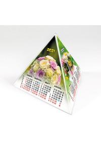 00204 Табель календарь пирамидка, Цветы - 2021  (Настольный календарь, учет рабочего времени)