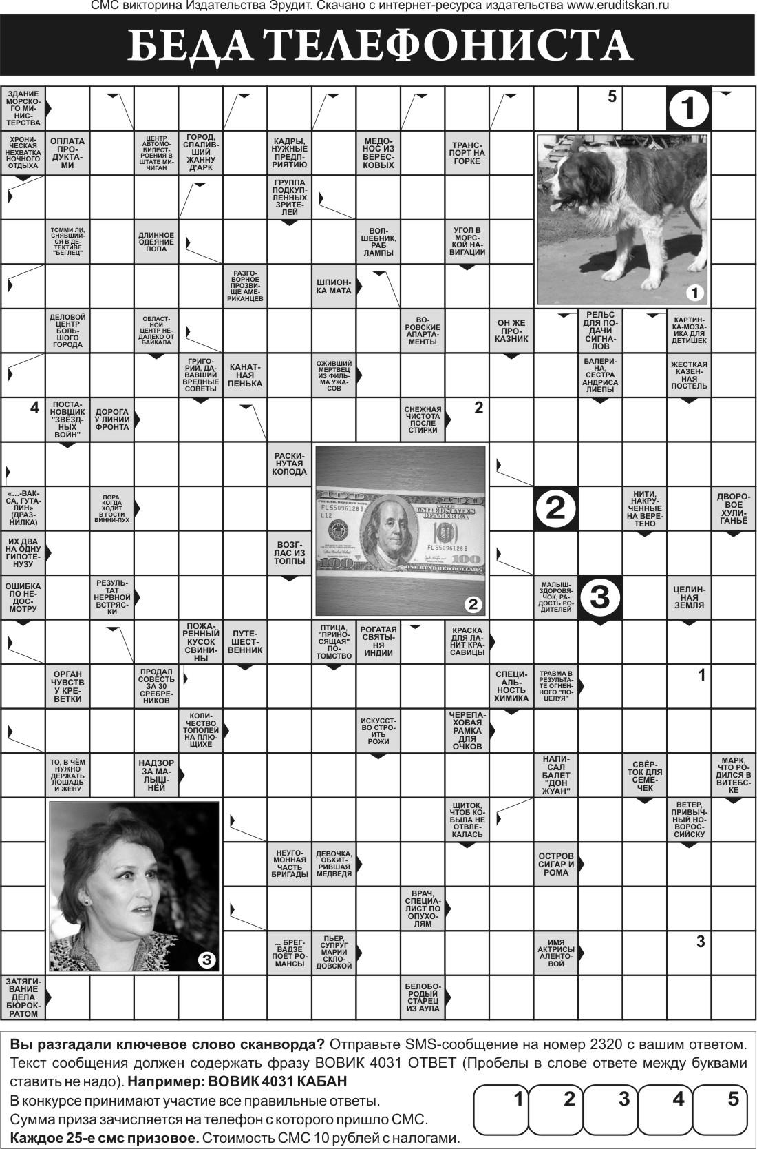 сканворд скачать для печати pdf